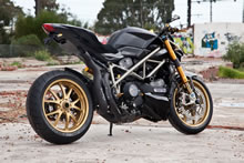 Custom Ducati Streetfighter Wizard's Sleeve Exhaust