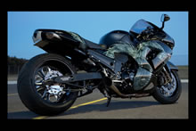 Kawasaki ZX14 300 rear wheel kit and custom dragon paint