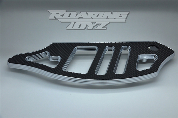 Picture of ROARING TOYZ- Billet Floorboards Pin Stripe Driver Chrome Harley Models
