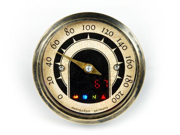 Picture of Motogadget - VINTAGE TINY DIGITAL/ANALOG SPEEDOMETER