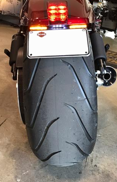 "Picture of Bikecraft Fender Eliminator with ""Stripe"" Indicators For Harley Davidson V-Rod Nightrod Special (VRSCDX) 2012 up"