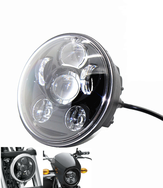 "Picture of Harley Davidson-  5-3/4"" 5.75 inch led headlight -Black"