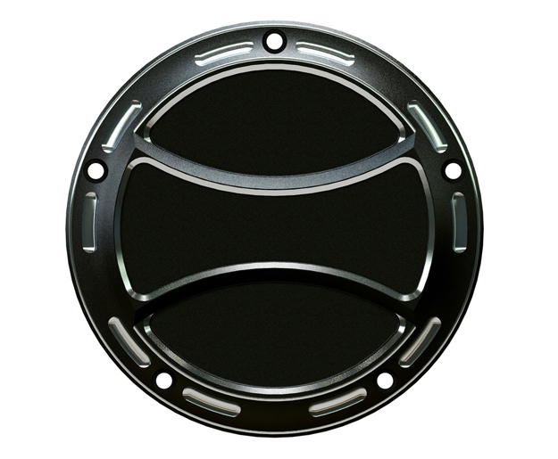 """Picture of IGNITION COVER BICOLOR """"TORQUE"""" M8 HARLEY"""