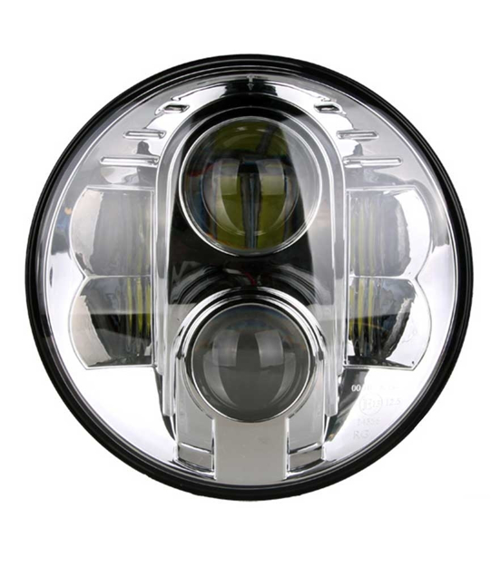 "Picture of 7"" LED headlight insert -Chrome or Black"
