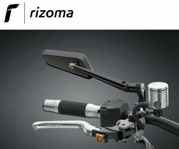 Picture of Rizoma Universal RIGHT HAND black rearview mirror CIRCUIT BS201B