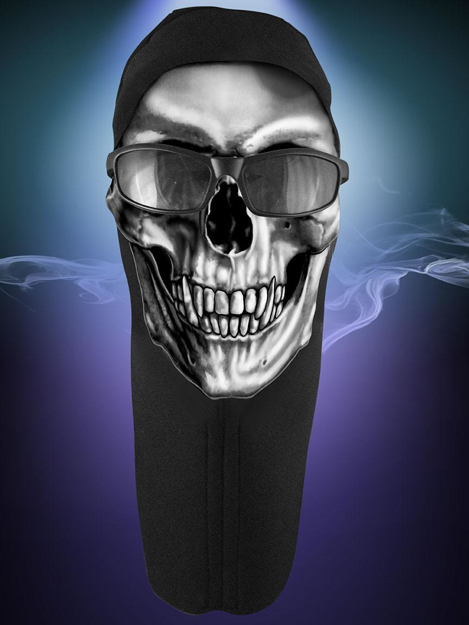 Picture of Wicked Wear Face Masks - Skull