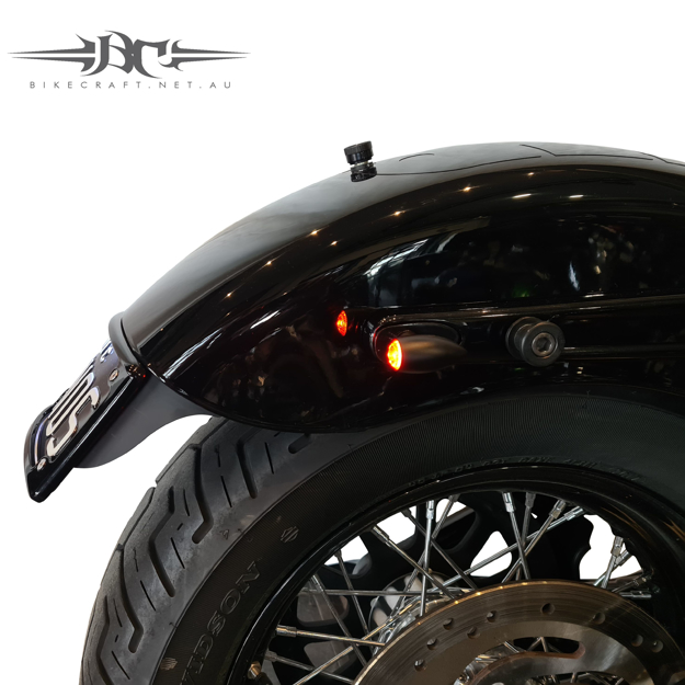 Picture of Harley Davidson Street Bob / Slim - 2018 MODELS- Bikecraft Fender Eliminator Tail Tidy with integrated stop/tail lights